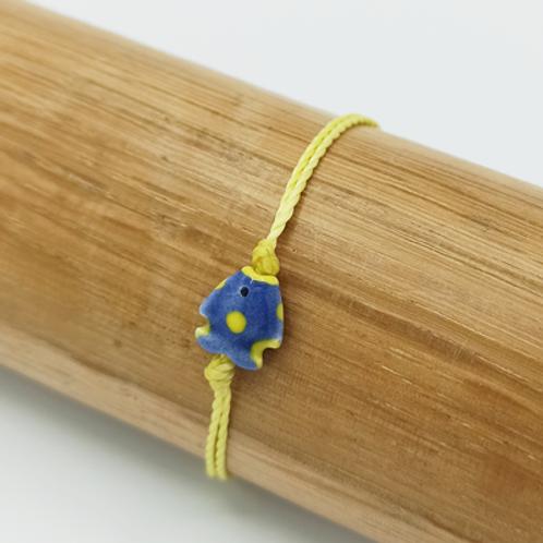 Bracelet . Poisson céramique