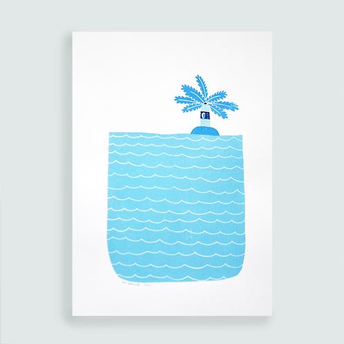 L'eau . Grande taille
