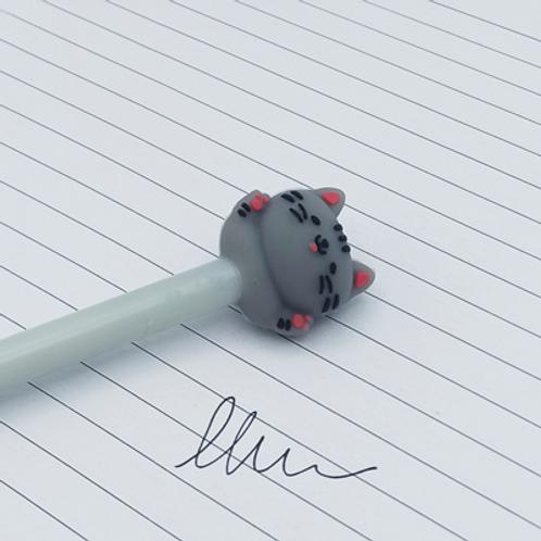 stylo encre Noir .Chat