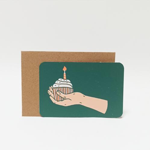 Anniv cake .  Mini carte