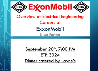 ExxonMobil Informational Wed @ 7:00pm