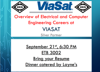 ViaSat Informational Thursday @ 6:30pm