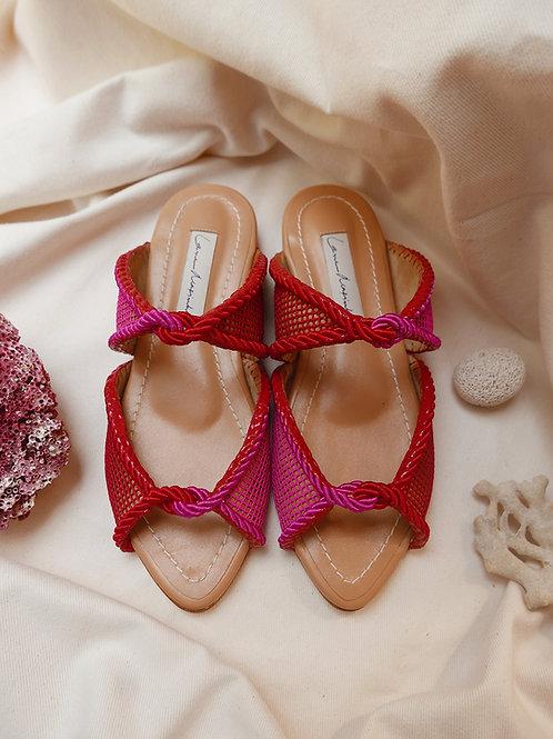 Carolina Flat/ Vermelho e Rosa/ Sella/