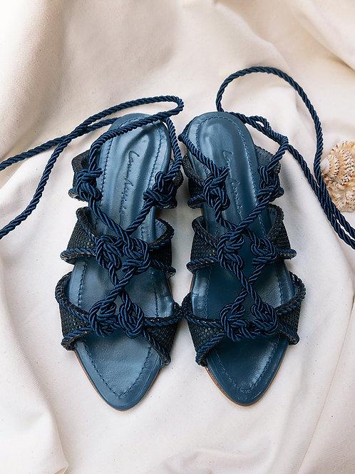 Stella Flat/ Azul Marinho/ Marinho/ corda azul marinho