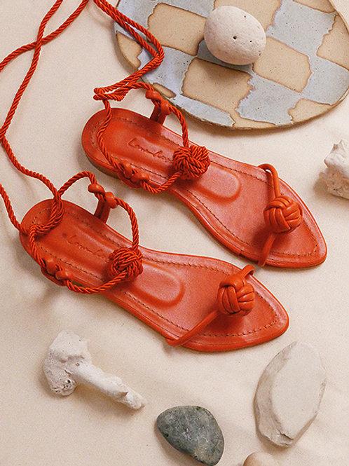 Francisca Flat/ Orange/ Orange/ orange knot