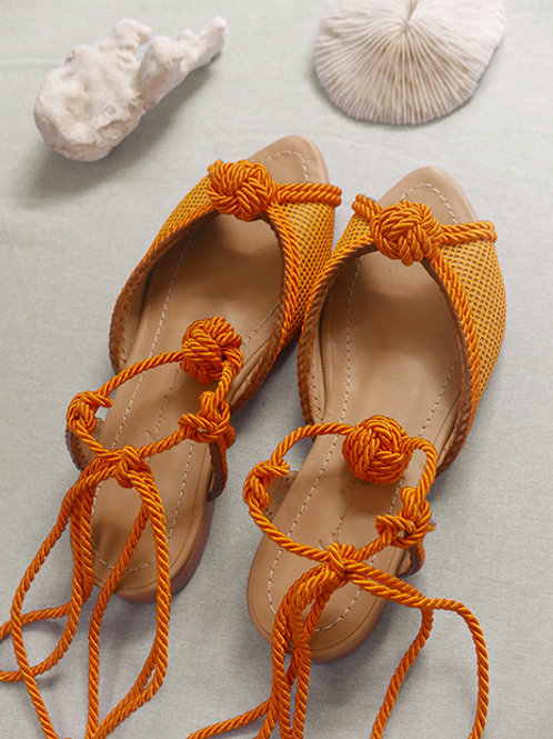 Tereza Flat/ Yellow/ Nude/ yellow knot