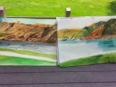 Painting at Lake Chelan
