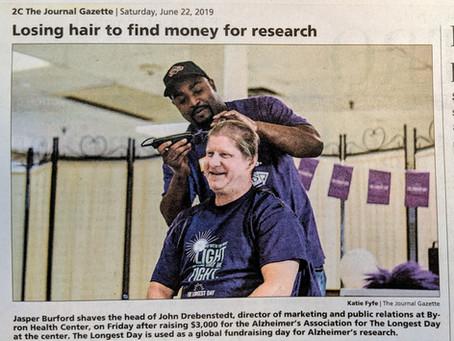 John Drebenstedt gets his Haircut