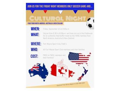 FWSC Cultural Night - September 13, 2019