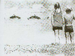 A photo allegedly of an igopogo, taken in 1976