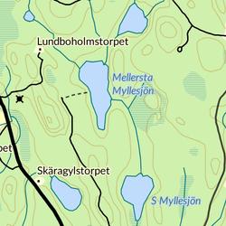 A map of Lake Myllesjon