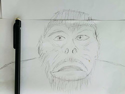 Gary's sketch of the creature he saw