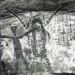 """A pictograph of a """"Turramulli"""" in Yalanji Country, Queensland"""