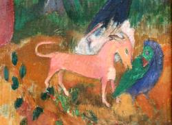 "The mystery bird depicted in Paul Gaugin's ""The Wizard of Hiva Oa"""