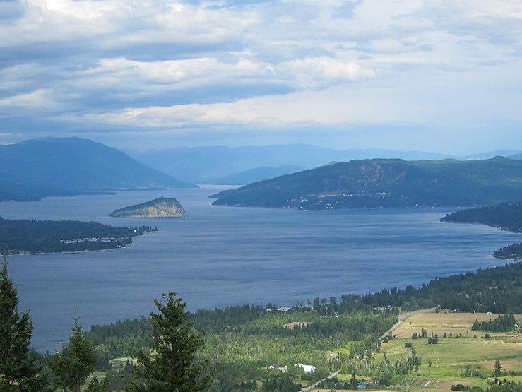 View of Shushwap Lake