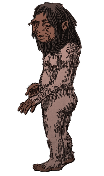 Illustration of a menehune by Harry Trum