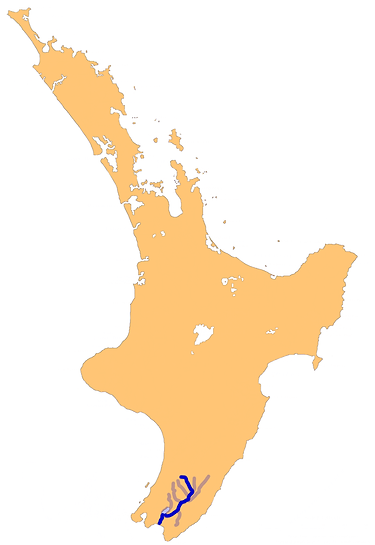 A map of the Ruamahanga River and its tr
