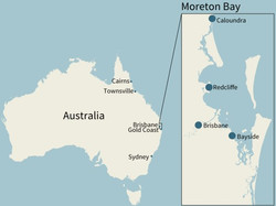 A map of the Moreton Bay
