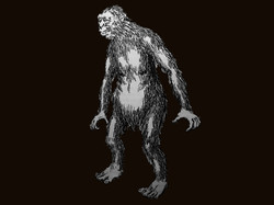 A sketch of a yowie by Harry Trumbore