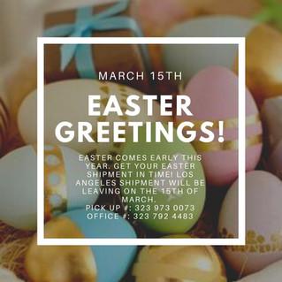 Easter Shipment 2020