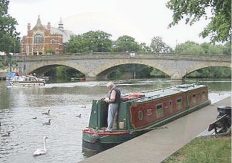Boating on the River Avon at Evesham