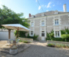 The main guesthouse in the Loire Valley
