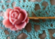 Rose Shaped Hair Pin