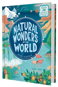 Hardback book of Natural Wonders of the World by Molly Oldfield
