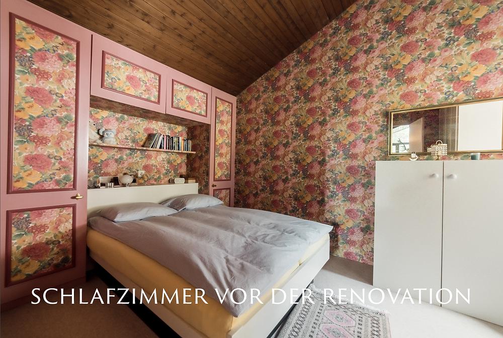Schlafzimmer vor der Renovation