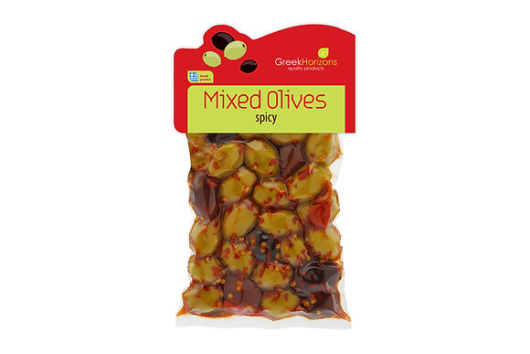 Mixed olives with chili pepper  200g