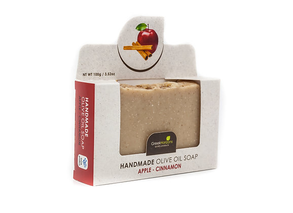 Handmade olive oil soap Apple & cinnamon 100g