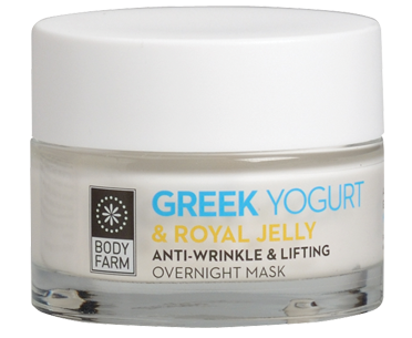 Anti-wrinkle & lifting overnight mask Greek yoghurt & royal jelly 50m