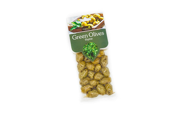 Green olives with thyme 100g
