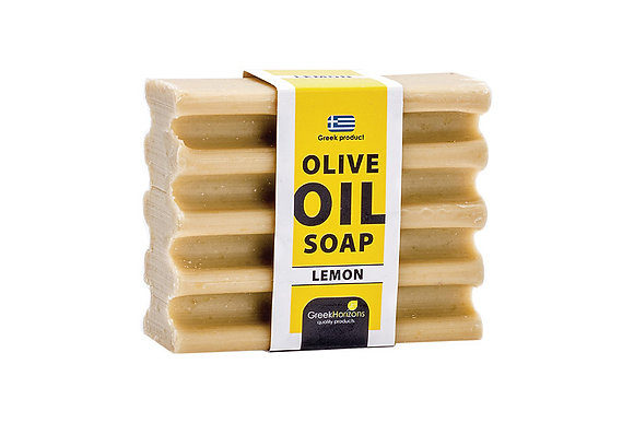 Striped olive oil soap lemon 100g