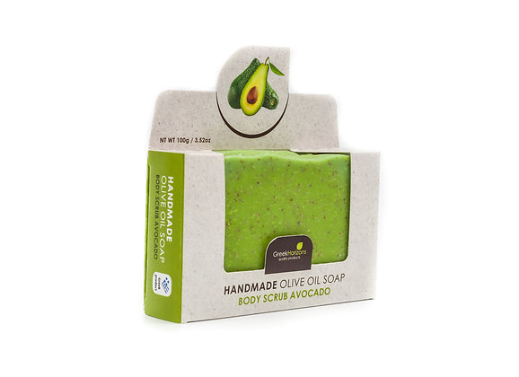 Handmade olive oil soap Avocado (Body scrub) 100g