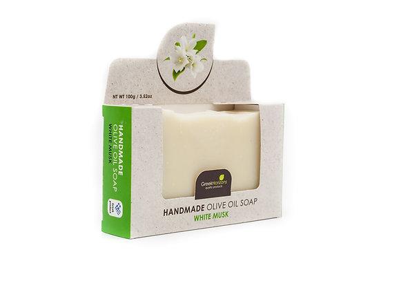 Handmade olive oil soap White musk 100g