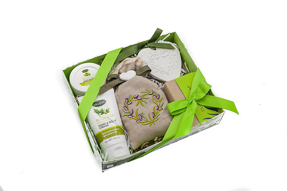 Cosmetic gift box olive No5