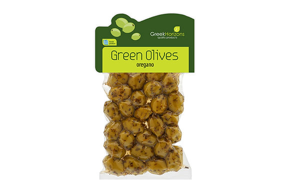 Green olives with oreagno 200g