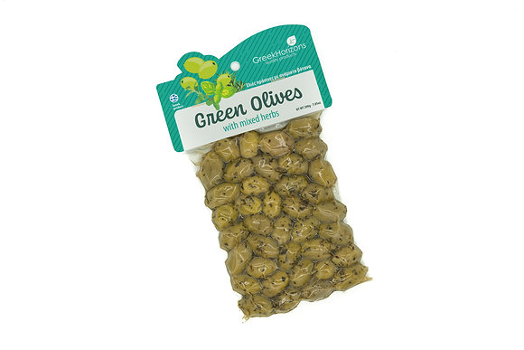 Green olives with herbs 200g