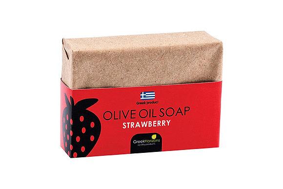 Σαπούνι ελαιολάδου οικολογικό χαρτί φράουλα 100γρ
