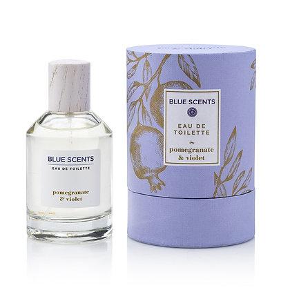 Eau De Toilette Pomegranate & Violet 'Blue Scents' 100ml