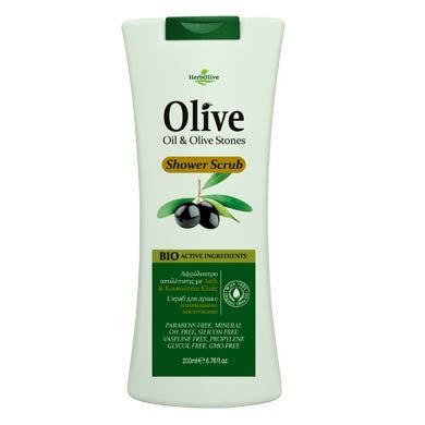 Shower scrub Olive stones HerbOlive 200ml