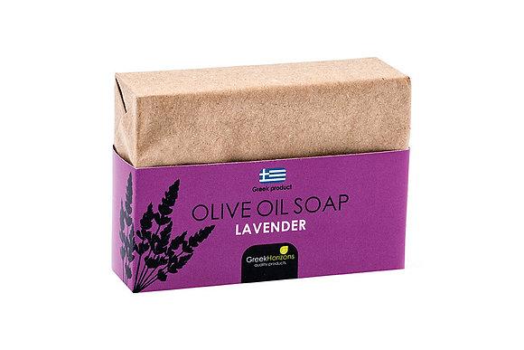 Eco paper olive oil soap lavender 100g