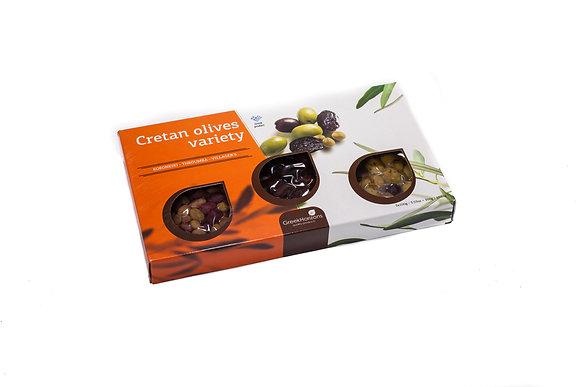 Olives gift box Cretan variety 3x100g