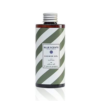 Shower gel Olive oil & Green Pepper 'Blue Scents' 300ml