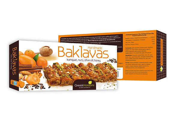 Baklava kumquat, nuts & honey 240g