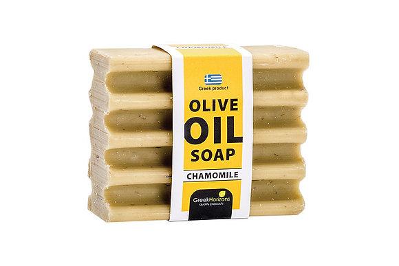 Striped olive oil soap chamomile 100g