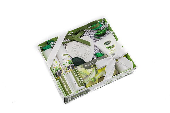 Cosmetic gift box olive No2
