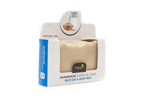 Handmade olive oil soap Oat & goat milk (Face) 100g