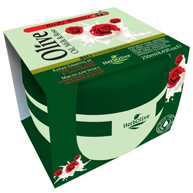Body butter Milk & rose HerbOlive 250ml